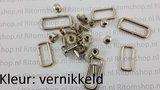 Klittenband ringen /draadring rechthoek voor 16 mm riem  1000 stuks_