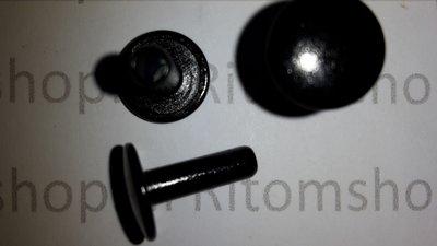 Holniet 6.4 lang kop Ø 7 mm  Antraciet / Zwart