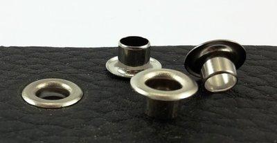 Zeilringen zilverkleurig gat Ø 8 mm 100 st