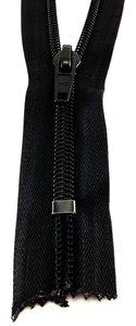 Rits spiraal 8 mm breed 45 cm lang Zwart