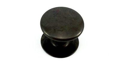Dubbele holnieten 1 bolle kop Ø 5 mm, antraciet / zwart 100 sets