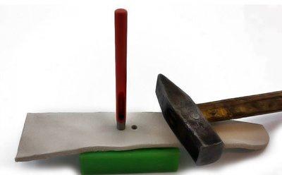 Slag-holpijp ovaal 12 x 3 mm