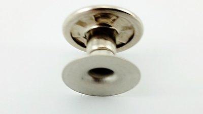 Dubbele holniet 8 mm lang, 1 bolle kop Ø 11 mm, zilver, 100 sets