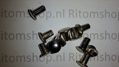 Holniet 8 lang kop Ø 11 mm  Nikkel /Zilver