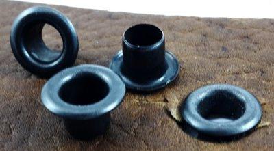Nestelringen zwart gat Ø 4 mm 100 st