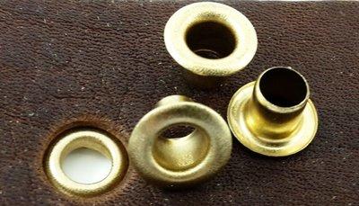 Nestelringen goudkleurig gat Ø 8 mm 100 st