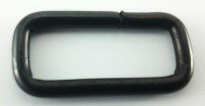 Draadring rechthoek voor 18 mm riem  100 stuks Brons