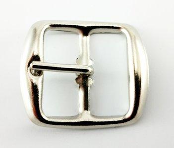 Gesp 25 mm vernikkeld / zilver 10 stuks
