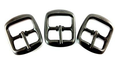 Gesp 12 mm antraciet/ zwart 10 stuks